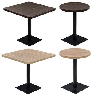 vidaXL Bistro Table MDF and Stee French Side Stand Desk