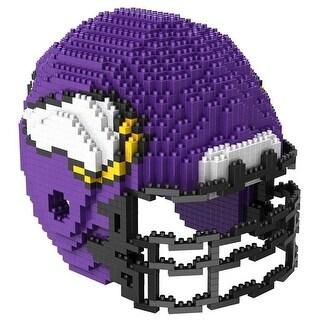 Minnesota Vikings 3D NFL BRXLZ Bricks Puzzle Team Helmet