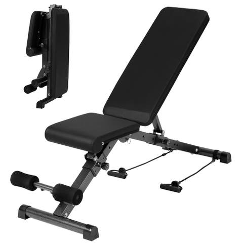"""Black Foldable Weight Bench, Adjustable Bench 56"""" X 16.5"""" - 56'' H x 17'' W x 56'' D"""