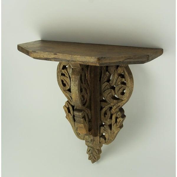 Shop Elegant Wood Scrollwork Decorative Wall Corbel Shelf 12 5 X 13 25 X 5 75 Inches Overstock 28001521