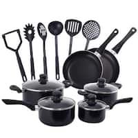 Costway 16 Piece Non Stick Cooking Kitchen Cookware Set Pots And Pans Kitchen Set
