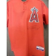 Signed Guerrero Vladimir Los Angeles Angels Warm Up Jersey Size Medium Light Fading of the signatur
