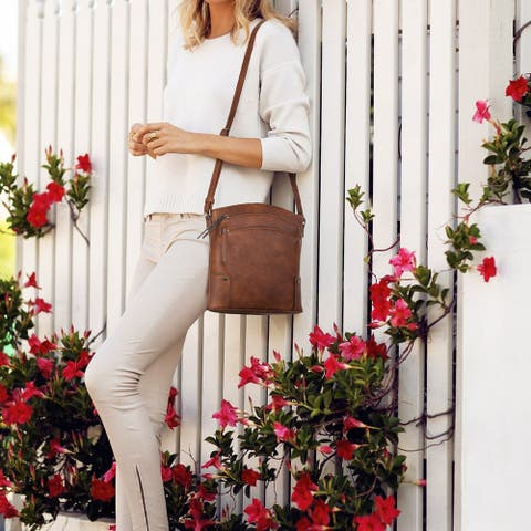 Dasein Multi Pockets Crossbody Messenger Bag with Tassel