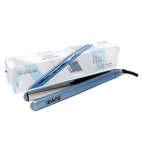 "Hair Rage Slim Straight Limited Edition 1 Inch Solid Titanium Plate Professional Hair Straightener Flat Iron - 1"""