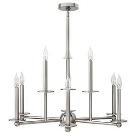 Hinkley Lighting 3748 Piedmont 9 Light 2 Tier Candle Style Chandelier