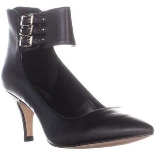 BCBGeneration Opera Triple Ankle Strap Heels, Black - 8 us / 38 eu