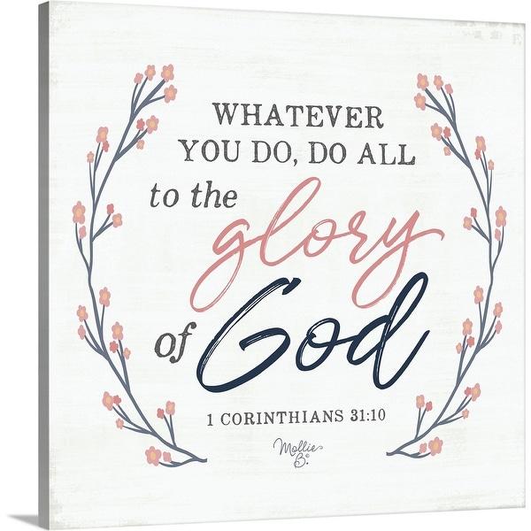"""Glory of God"" Canvas Wall Art"