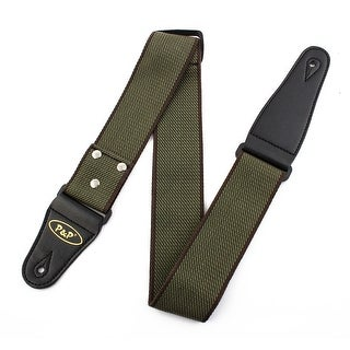 P&P Authorized Nylon Retro Style Acoustic Guitar Bass Strap Belt Army Green