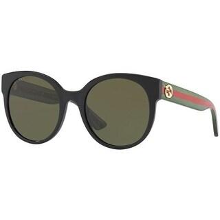 Gucci Women GG0035S 54 Black/Green Sunglasses 54mm
