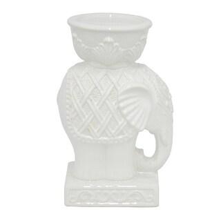 Ceramic Elephant Candle Holder