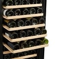 Kalamera Wine Cooler 80 Bottle Glass Door Wine Refrigerator Single Zone with Digital Temperature Display - Thumbnail 3