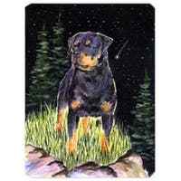 Starry Night Rottweiler Mouse Pad