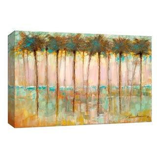 """PTM Images 9-148109  PTM Canvas Collection 8"""" x 10"""" - """"Palms At Dusk"""" Giclee Beaches Art Print on Canvas"""