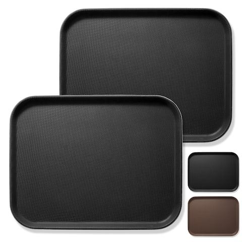 (Set of 2) Rectangular Restaurant Serving Trays, NSF Food Service Tray