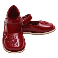 Red Patent Floral Mary Jane Fall Shoes Baby Girls 4-Little Girls 12