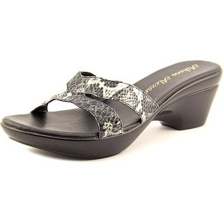 Athena Alexander Linden Women Open Toe Synthetic Black Platform Sandal