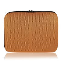 "13.3"" Shockproof Notebook Laptop Sleeve w Dual Zipper Orange"