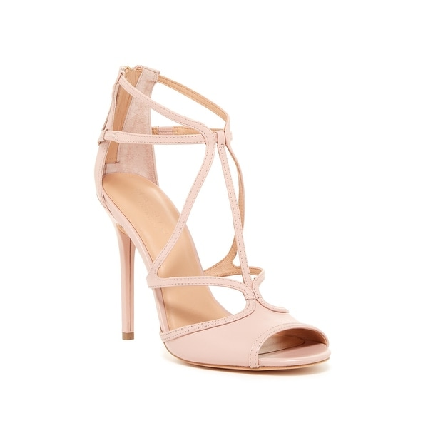 Halston Heritage NEW Pink Women's Size 7.5M Monica Leather Sandals