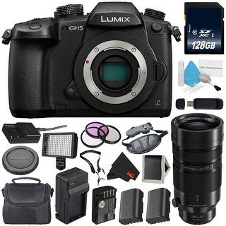 Panasonic Lumix DC-GH5 Mirrorless Micro Four Thirds Digital Camera (Body Only) + Panasonic Leica DG Vario-Elmar Lens Bundle