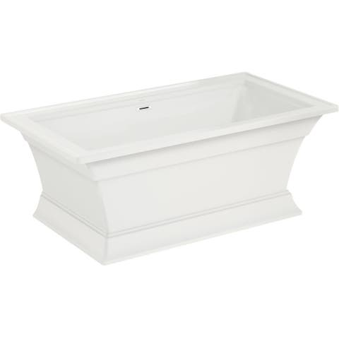 "American Standard 2546.004 Town Square S 68"" Free Standing Acrylic Freestanding Tub with Center Drain - White"