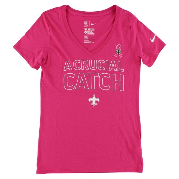 new product 0335d 449bf Nike Womens New Orleans Saints Breast Cancer Awareness T Shirt Pink -  Pink/White