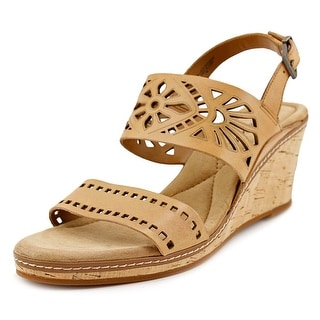 Easy Spirit Kristina   Open Toe Leather  Wedge Sandal