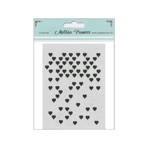 St4028 melissa frances stencil 3x4 hearts mini missing