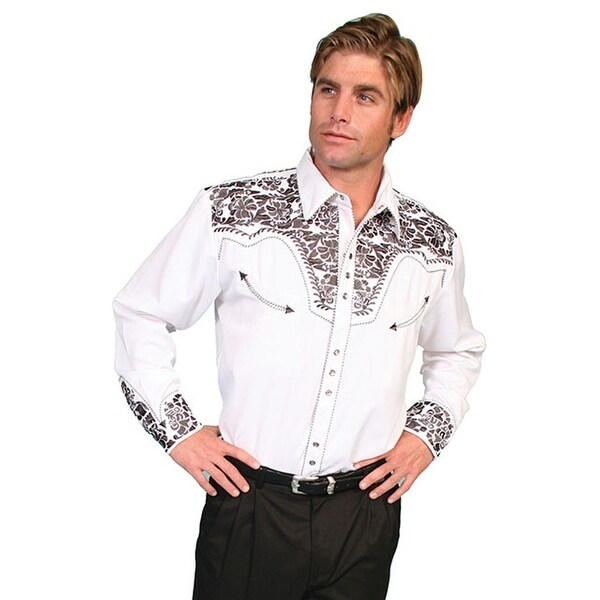 Shop Scully Western Shirt Mens L/S Snap
