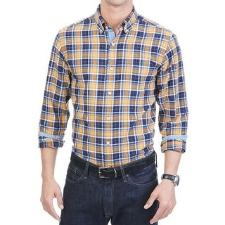 Nautica Mens Button-Down Shirt Oxford Plain Long Sleeves