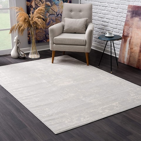 Rug Branch Havana Modern Abstract Area Rug and Runner, Grey