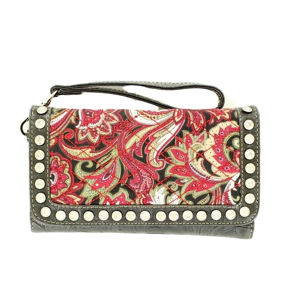 Blazin Roxx Western Wallet Womens Paisley Quilted Multi Color - One size