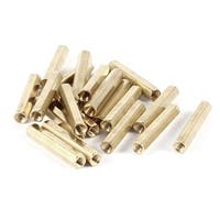 Unique Bargains Computer Motherboard M4x35 M4 Female Threaded Bolts Brass Standoff Spacer 20 Pcs