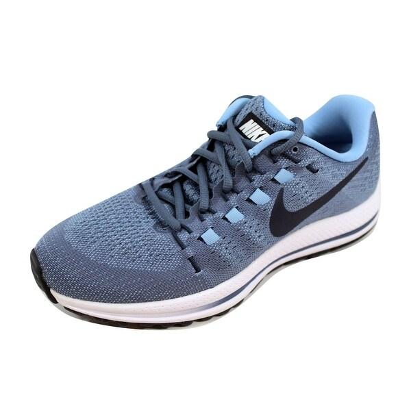 Nike Men's Air Zoom Vomero 12 Armory Blue/Obsidian 863762-404