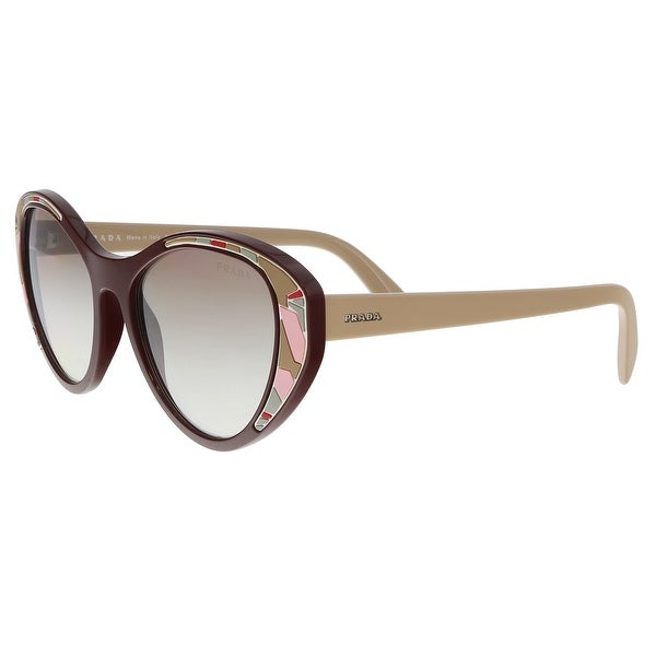 e30a9e7a8caec Shop Prada PR 14US LJ84O0 Bordeaux Cat eye Sunglasses - 55-18-140 ...