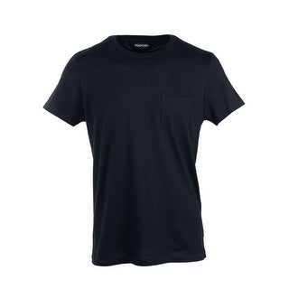 Tom Ford Black Single Pocket Pure Cotton T-Shirt