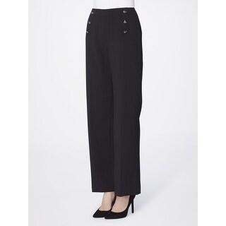Tahari ASL Wide Leg Sailor Dress Pants - 4