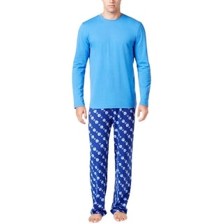 Family PJs Mens Pajama Set Holiday Dreidle - L