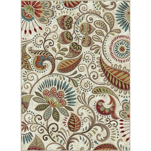 Alise Rugs Caprice Transitional Floral Area Rug