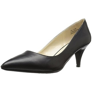 Annie Womens Doll Pumps Faux Leather Pointed Toe