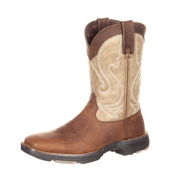 Durango Western Boots Womens Ultralite Square Toe Rocker Brown