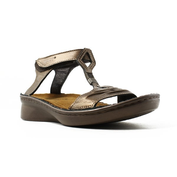 893eb4988f7 Shop Naot Womens Cymbal Gold   Brown Ankle Strap Sandals Size 5 - Free  Shipping On Orders Over  45 - Overstock - 22900624