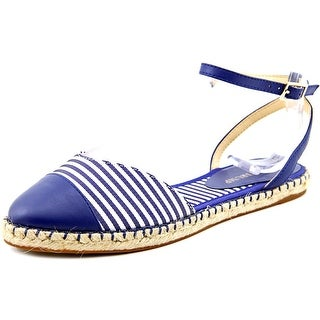 Ivanka Trump Rion Women Round Toe Leather Blue Espadrille