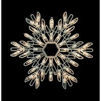 "15"" Lighted Shimmering Snowflake Christmas Window Silhouette Decoration"