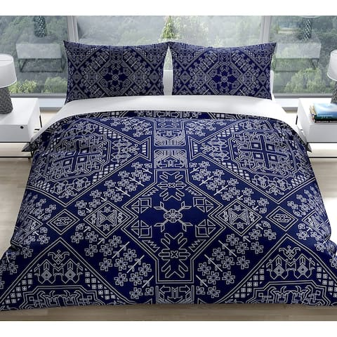 BAYBAR NAVY Duvet Cover by Kavka Designs