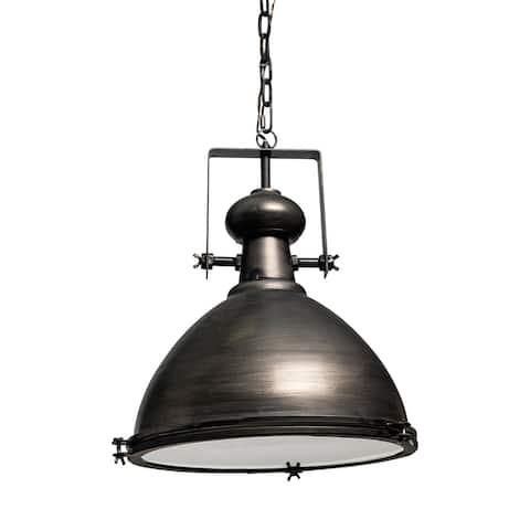 Mercana Bashaw I 17x20 Brown Toned Metal Dome Pendant Light