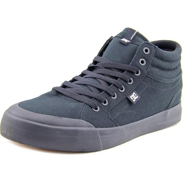 DC Shoes Evan Smith Hi Men  Round Toe Canvas Black Skate Shoe