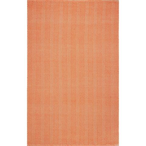 nuLOOM Handmade Flatweave Chevron Cotton Area Rug
