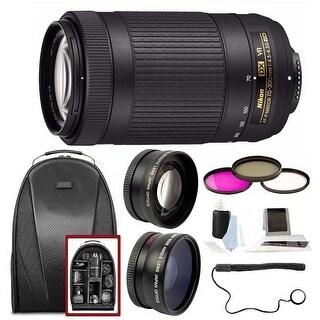 Nikon AF-P DX Nikkor 70-300mm f/4.5-6.3G ED VR Lens w/ Backpack & Accessory Kit