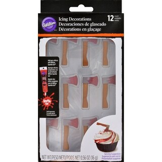 Royal Icing Decorations 12/Pkg-Bloody Axe