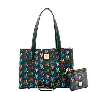 Dooney & Bourke DB75 Multi Sm Shopper & Med Wristlet (Introduced by Dooney & Bourke at $228 in Oct 2016) - Black